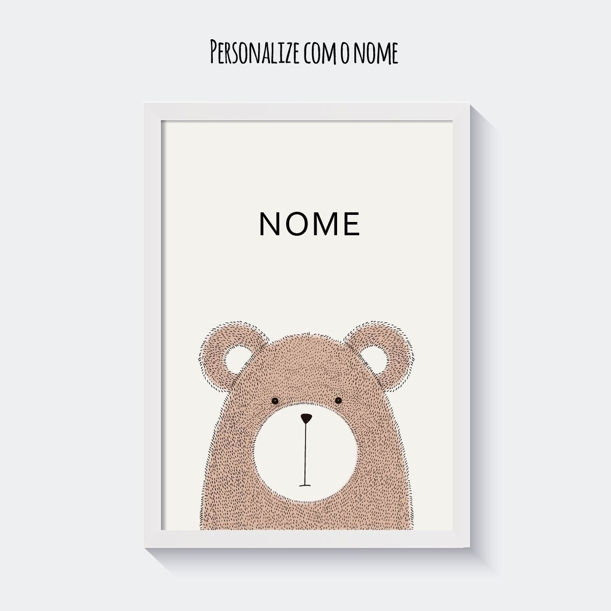 Quadro Personalizado Escandinavo Bear  - TaColado