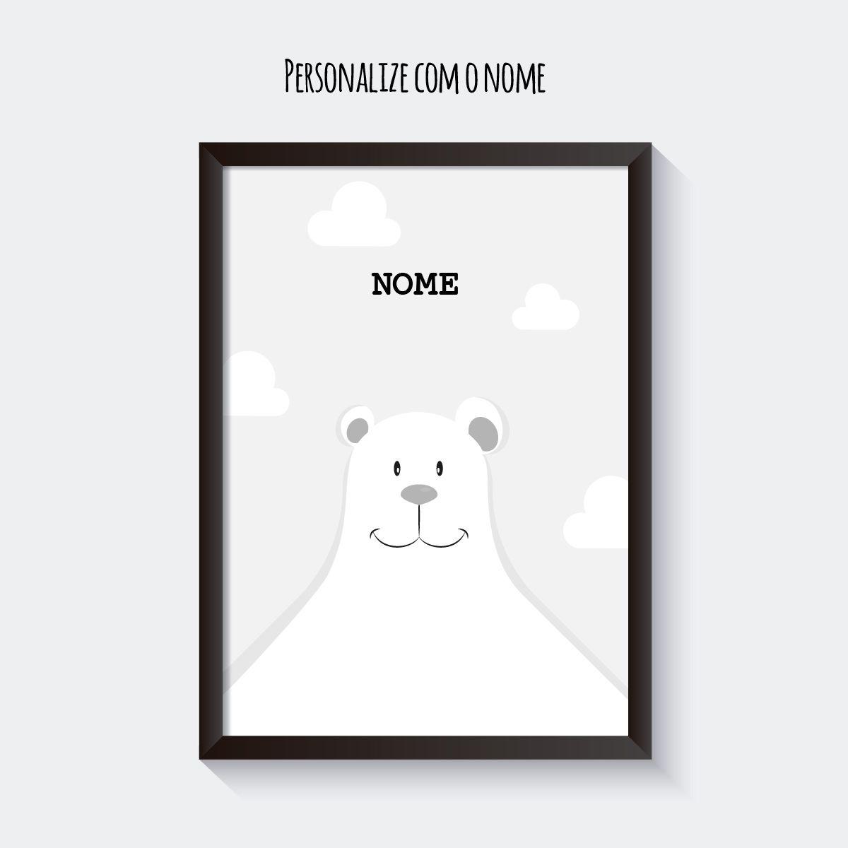 Quadro Personalizado Urso Polar  - TaColado