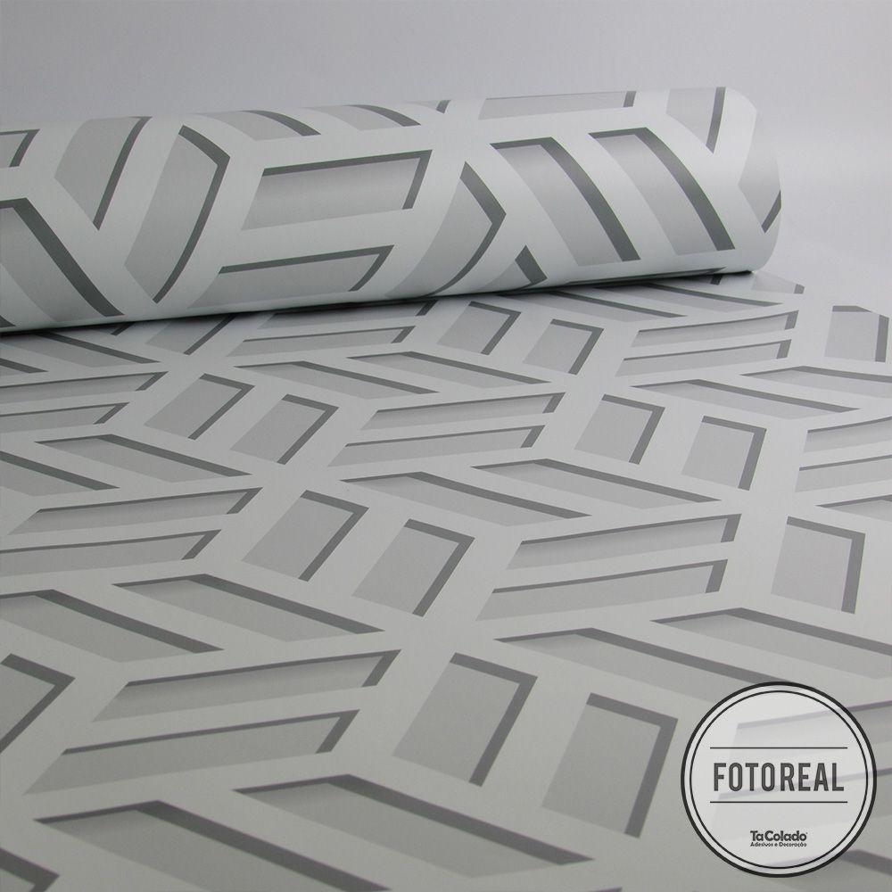 Queima de Estoque - Papel de Parede 3D Cobogó Branco  - TaColado