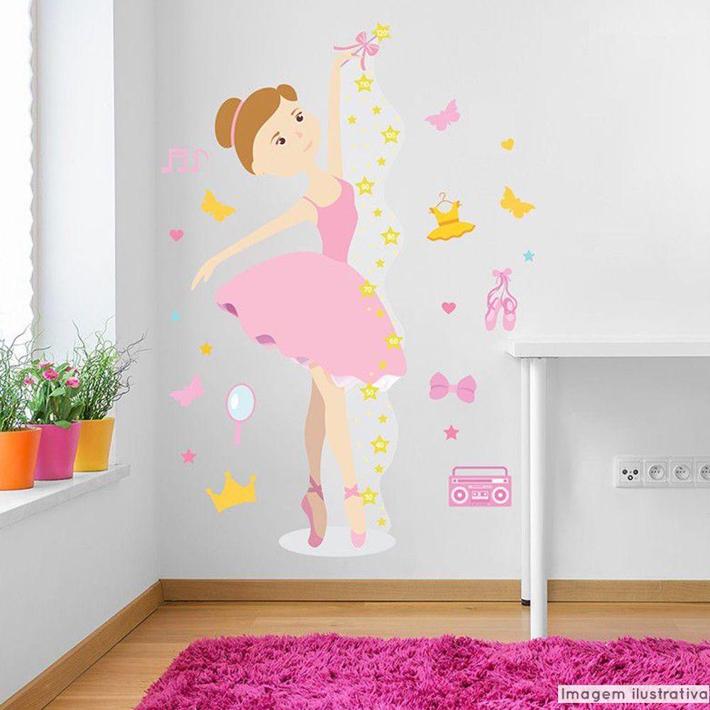 Régua de Crescimento Infantil Bailarina  - TaColado