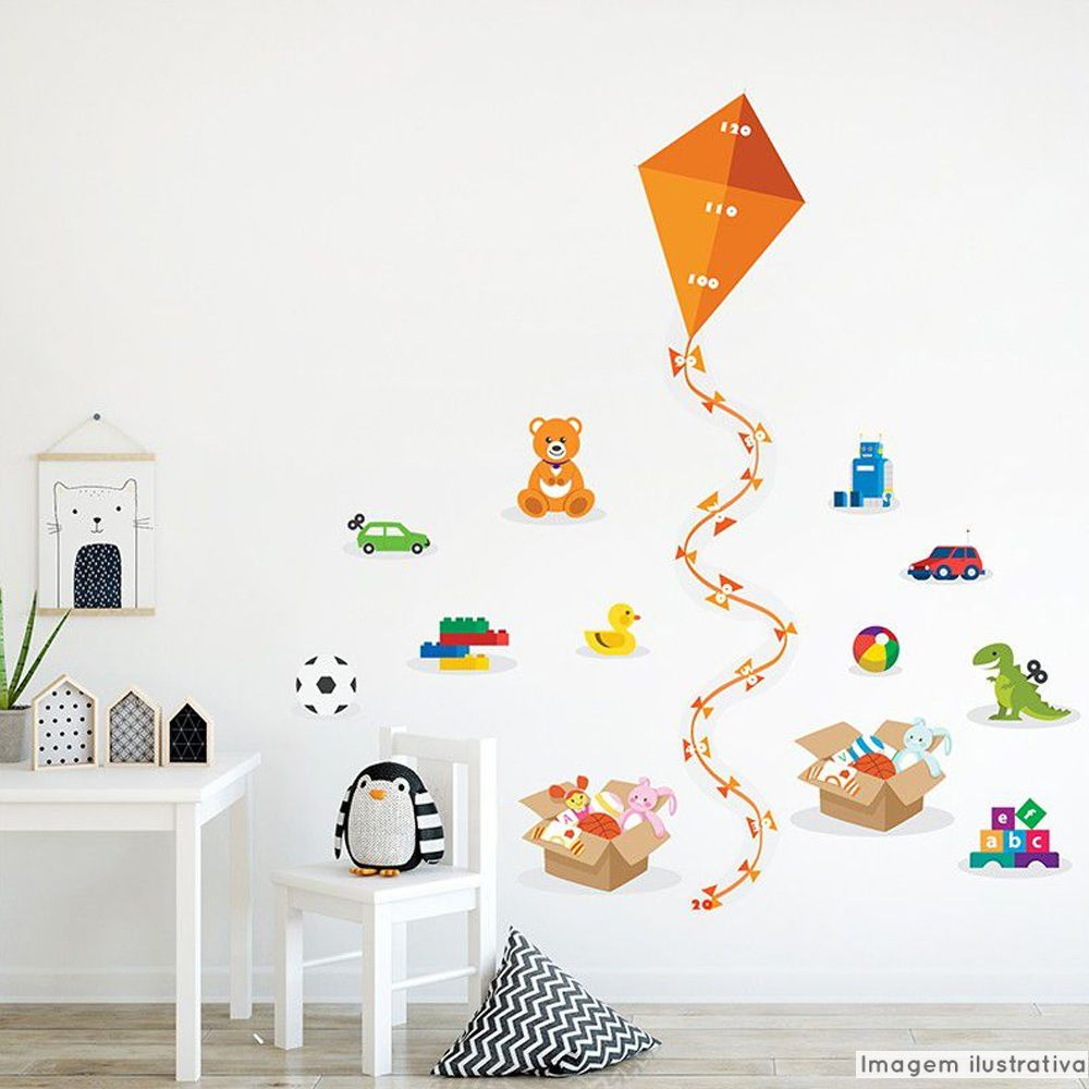Régua de Crescimento Infantil Brinquedos  - TaColado