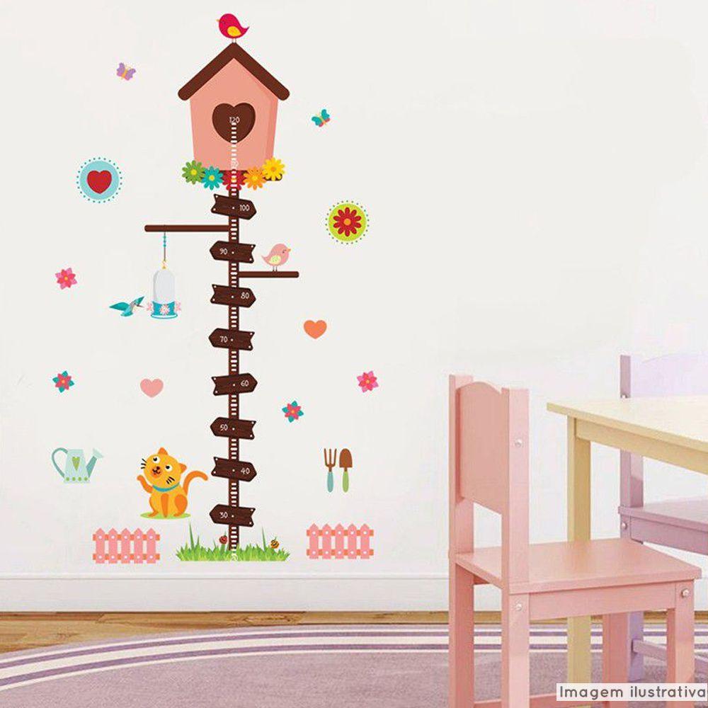 Régua de Crescimento Infantil Casa de Passarinhos  - TaColado