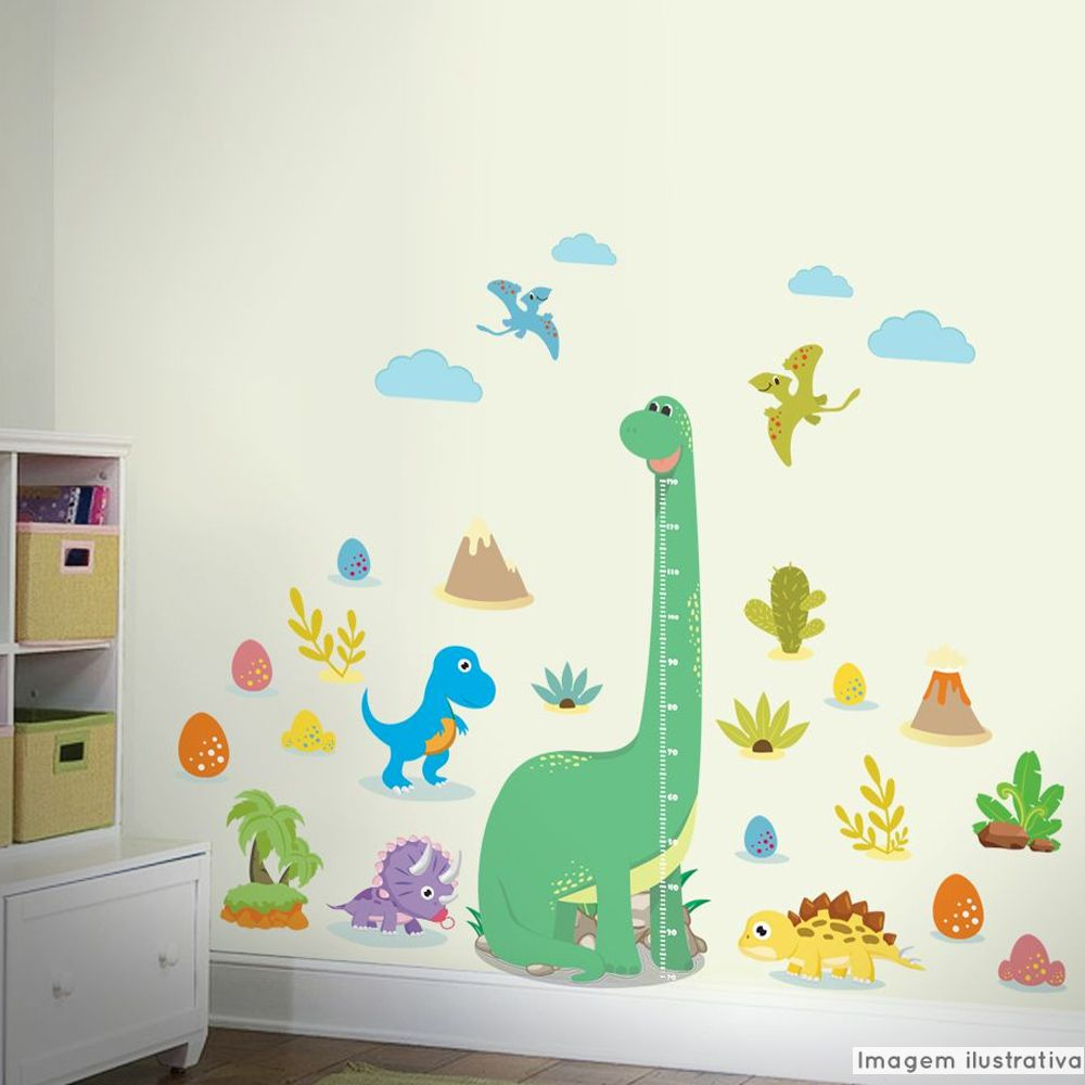 Régua de Crescimento Infantil Dinossauros  - TaColado