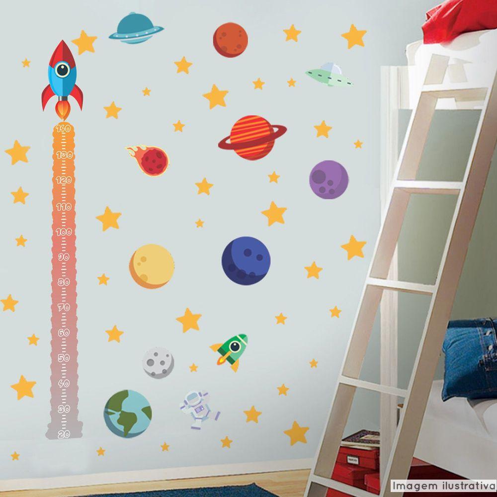 Régua de Crescimento Infantil Espaço Sideral  - TaColado
