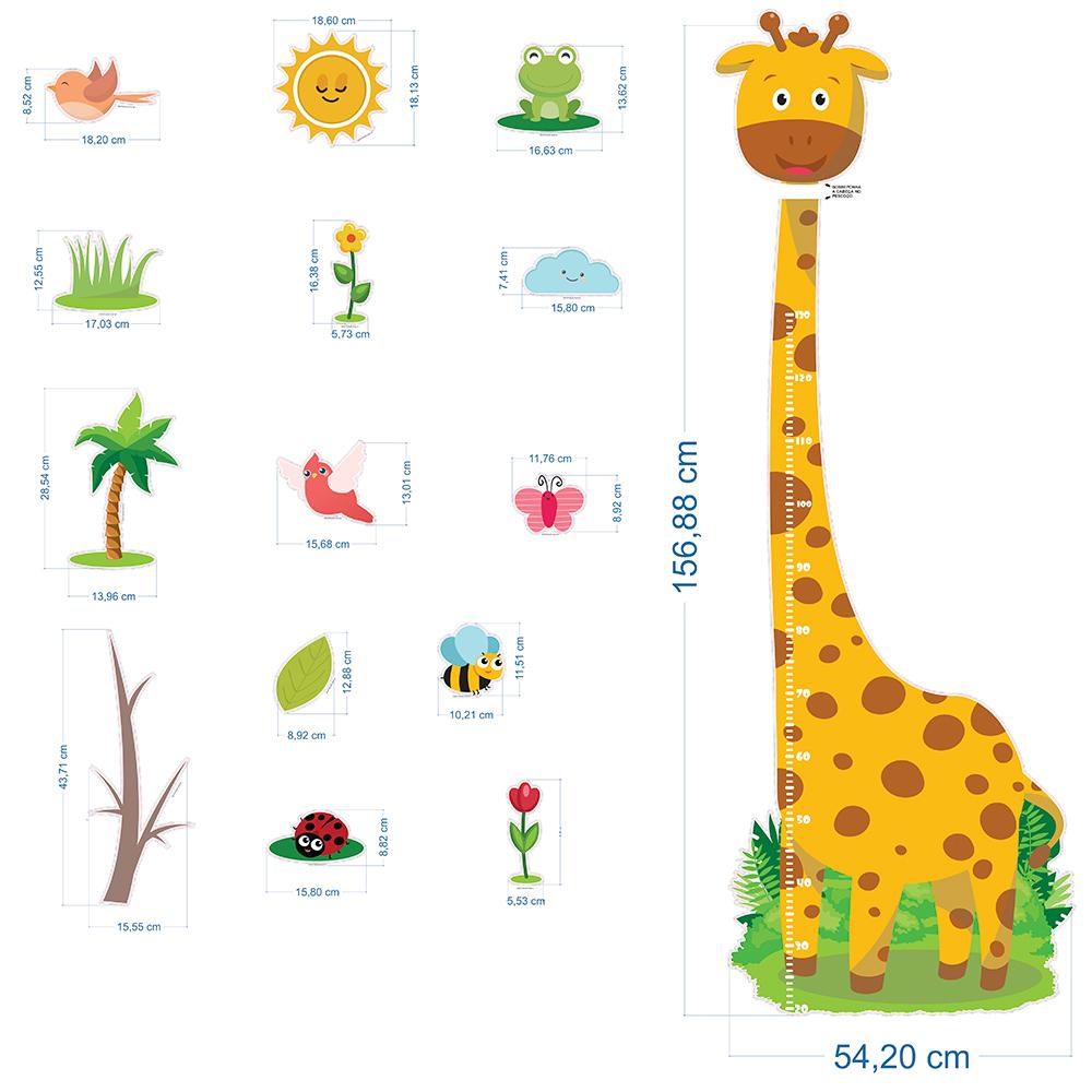 Régua de Crescimento Infantil Girafa  - TaColado