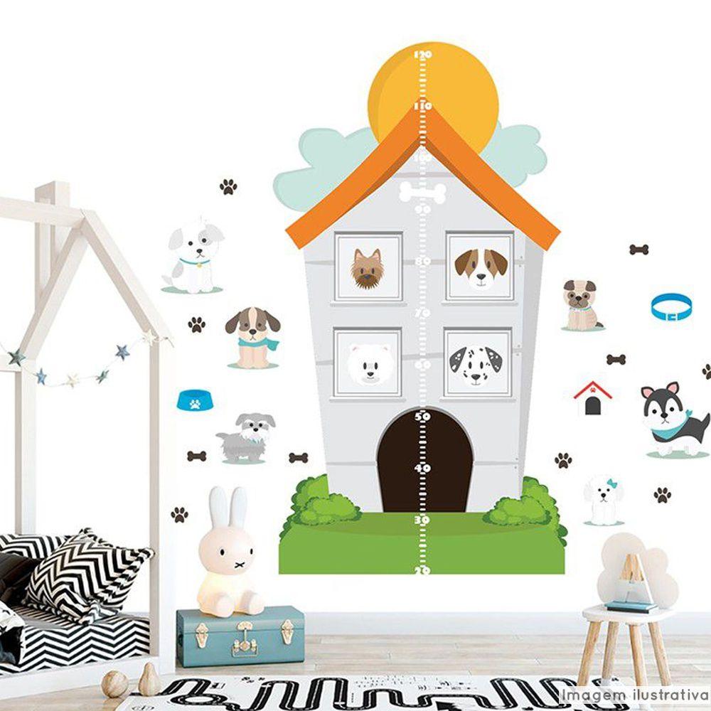 Régua de Crescimento Infantil Hotel de Cachorros  - TaColado