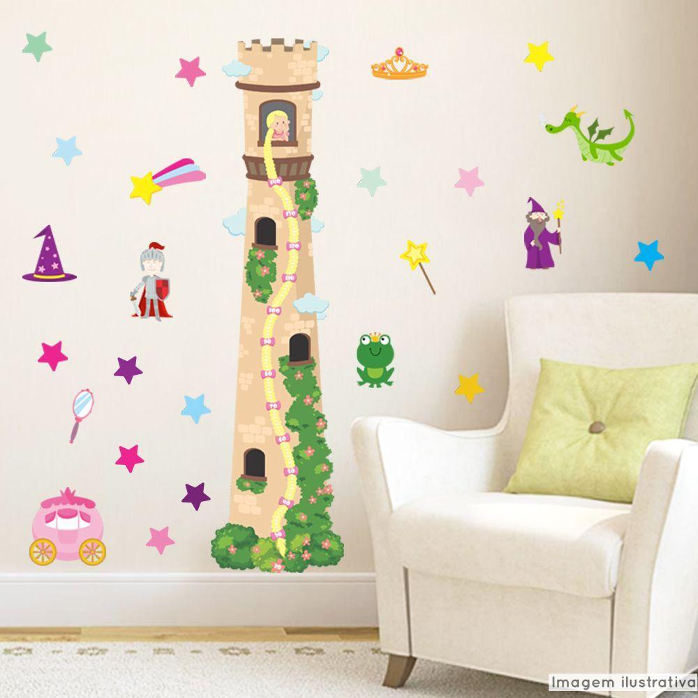 Régua de Crescimento Infantil Torre da Princesa  - TaColado
