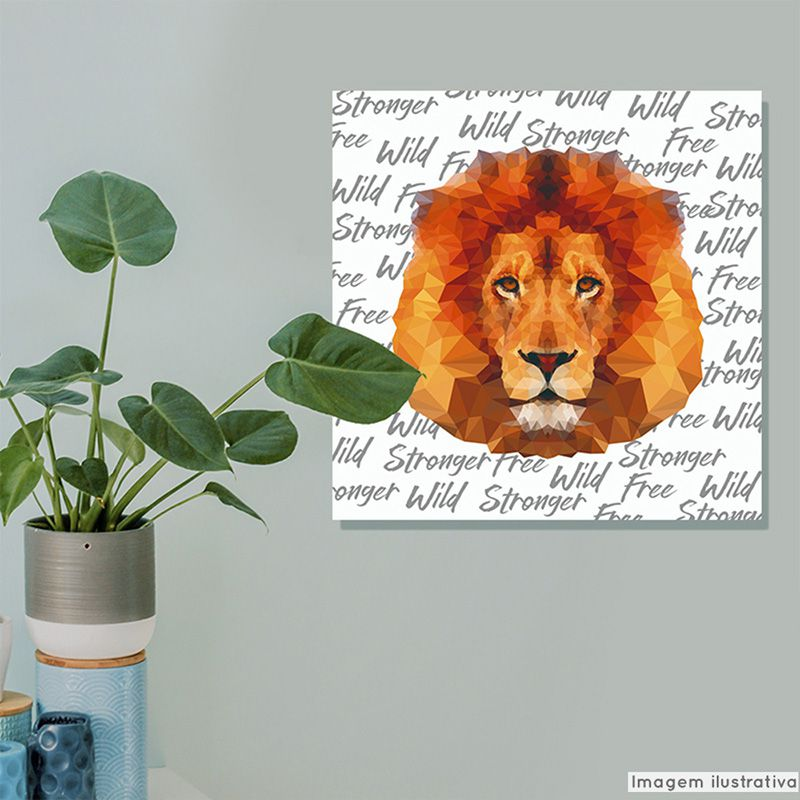 Tela Decorativa Abstration Lion  - TaColado
