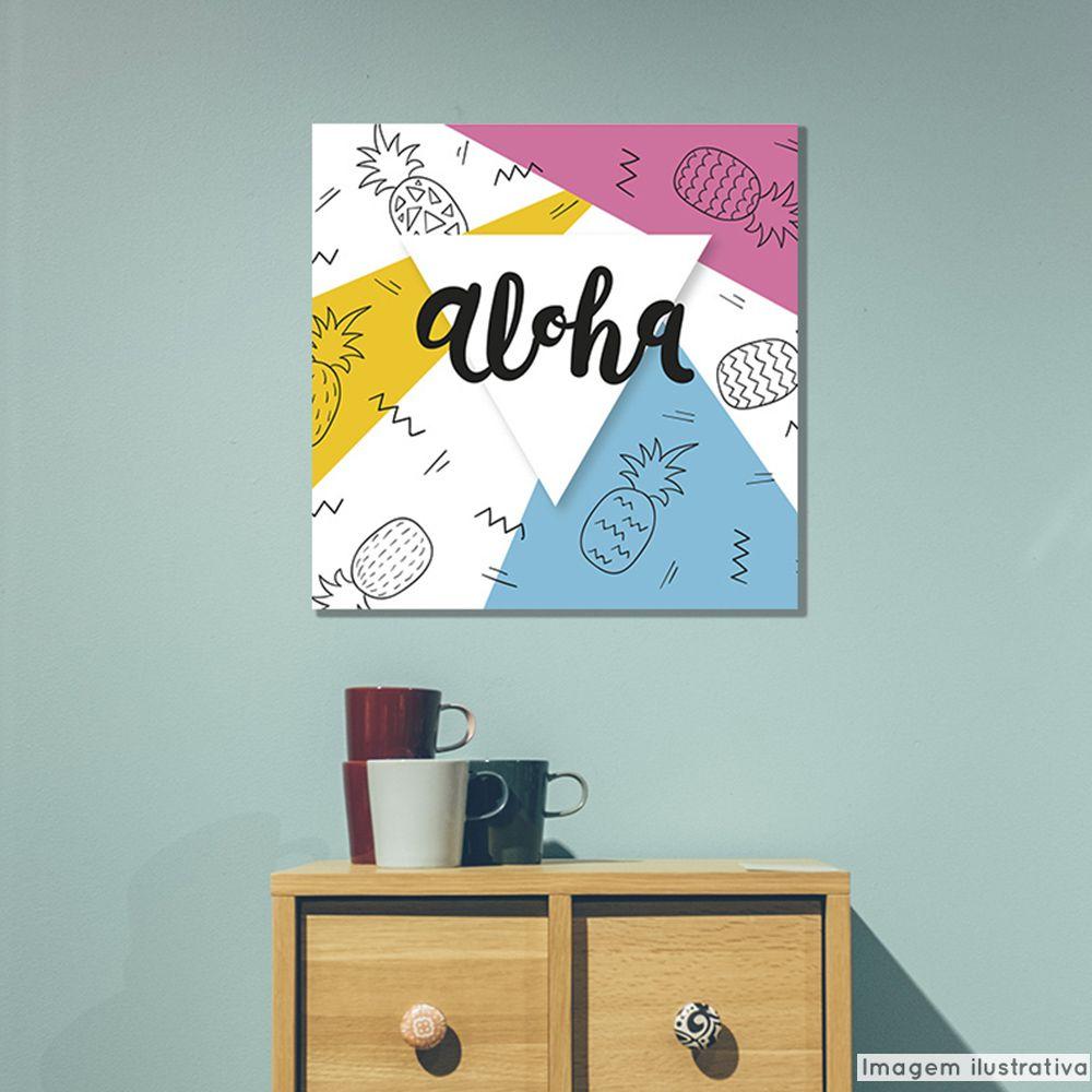 Tela Decorativa Aloha  - TaColado
