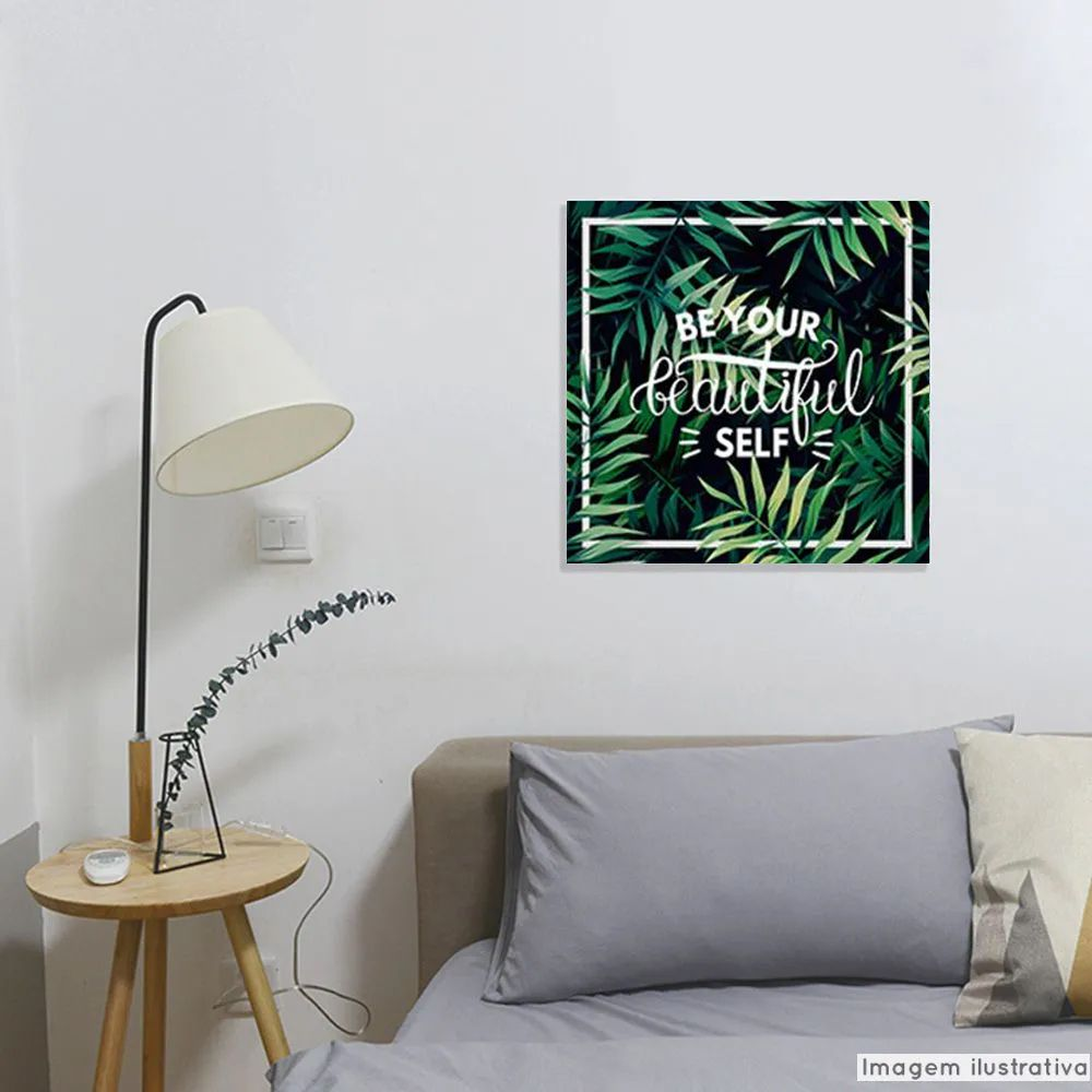 Tela Decorativa Be Yourself  - TaColado