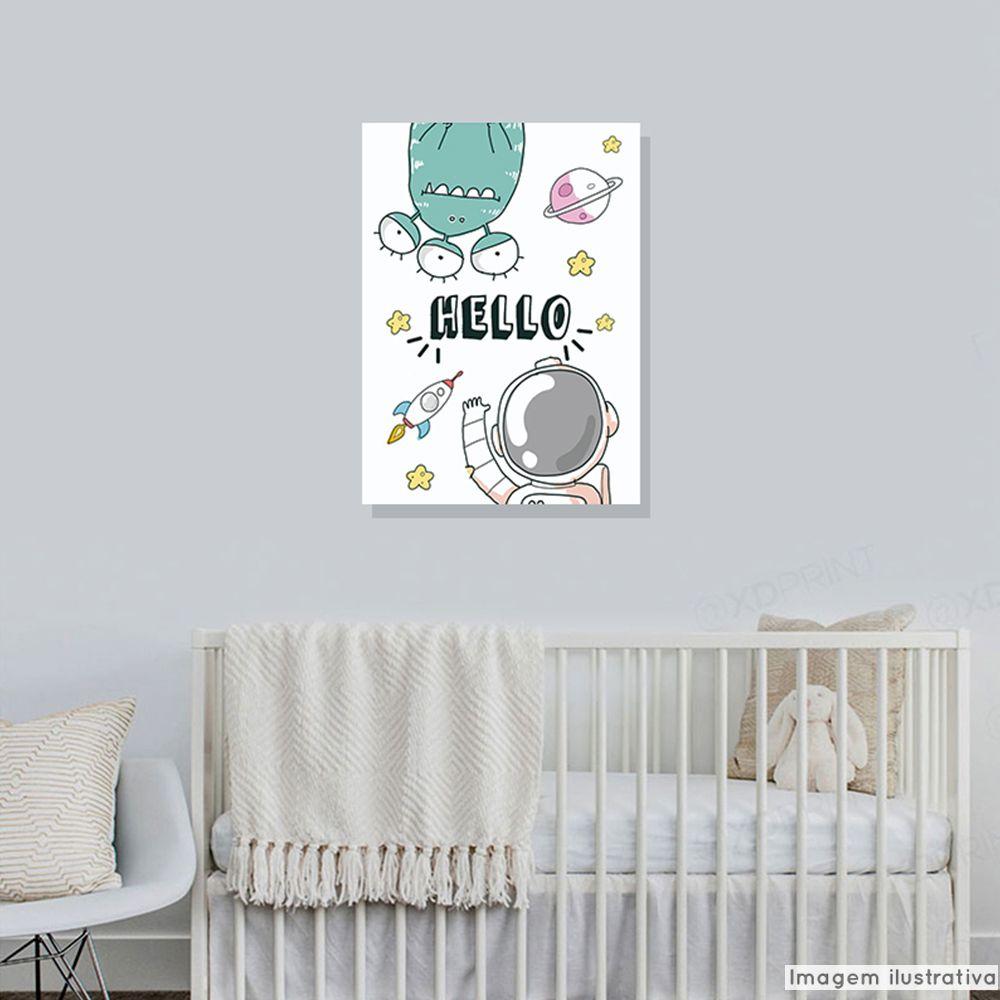 Tela Decorativa Hello Astronauta  - TaColado