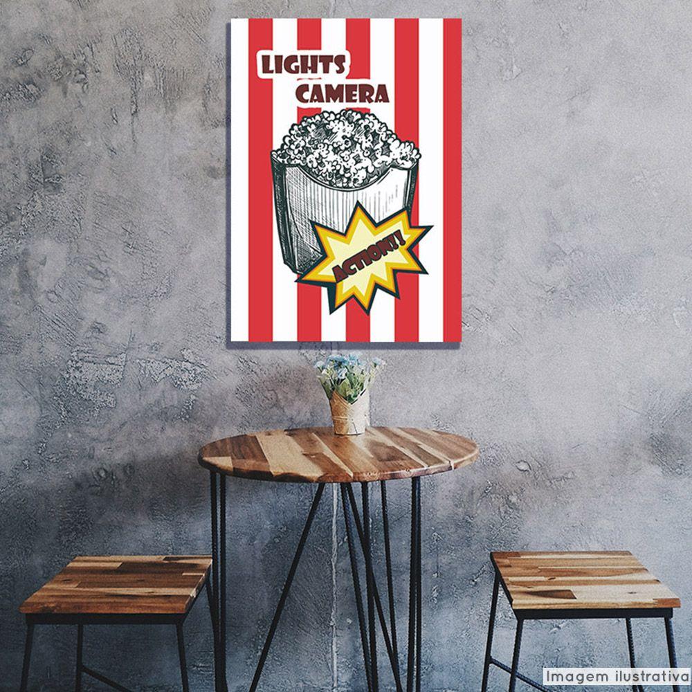 Tela Decorativa Popcorn  - TaColado