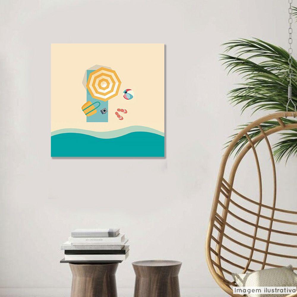 Tela Decorativa Praia  - TaColado