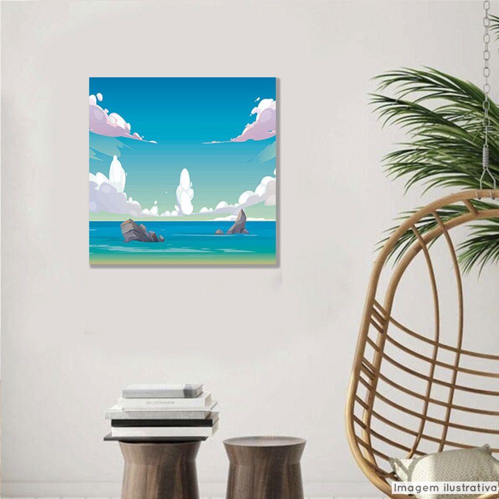 Tela Decorativa Praia Rochosa  - TaColado