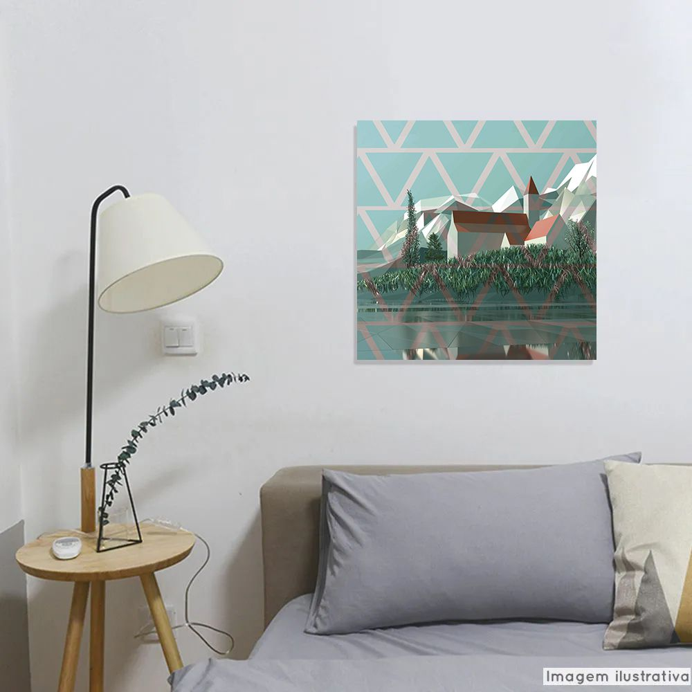 Tela Decorativa Triangle Village  - TaColado