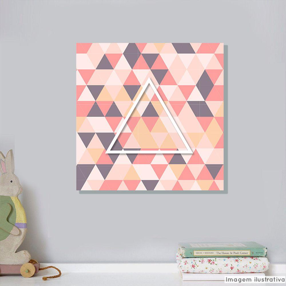 Tela Decorativa Triangulo Cristal  - TaColado