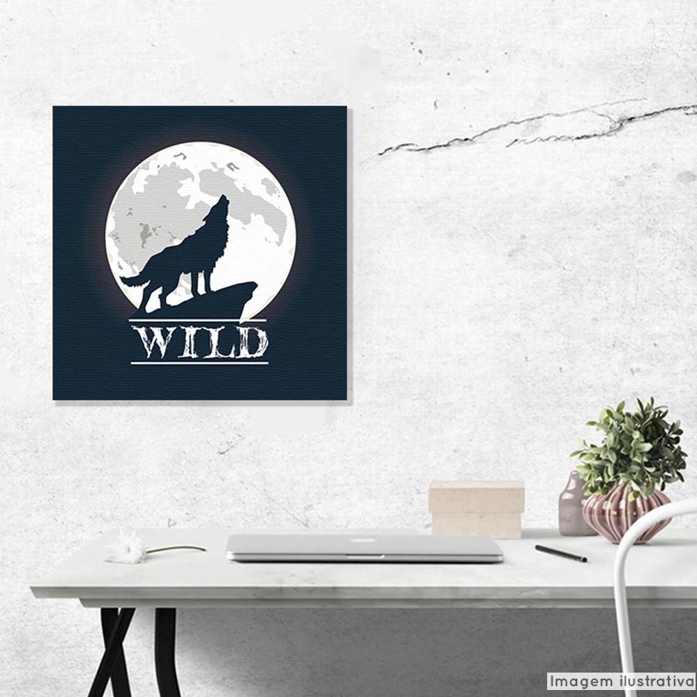 Tela Decorativa Wild Wolf  - TaColado