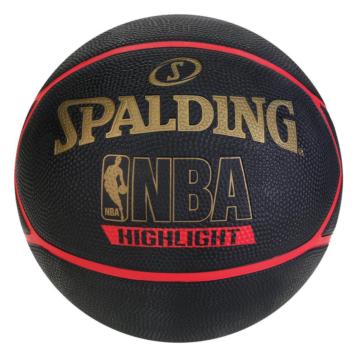 Bola Basquete Spalding NBA Highlight Outdoor Vermelho