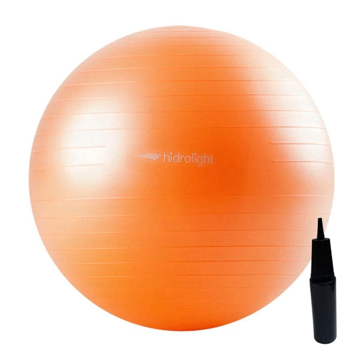 Bola De Exercícios Pilates Hidrolight Com Bomba 55cm