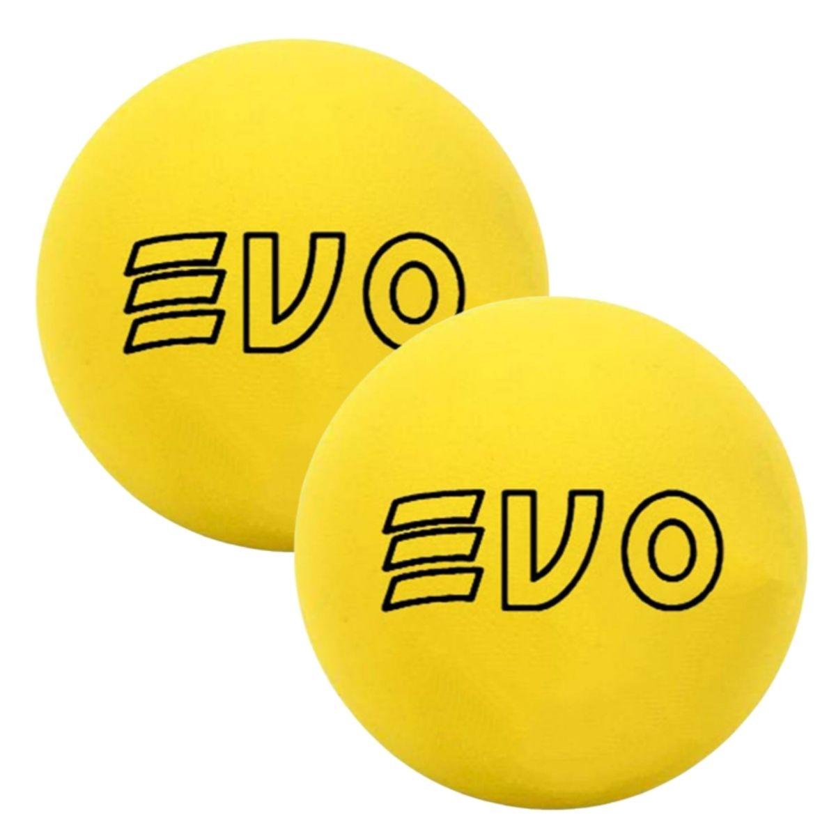 Bola De Frescobol Evo Amarelo Kit 2 Unidades