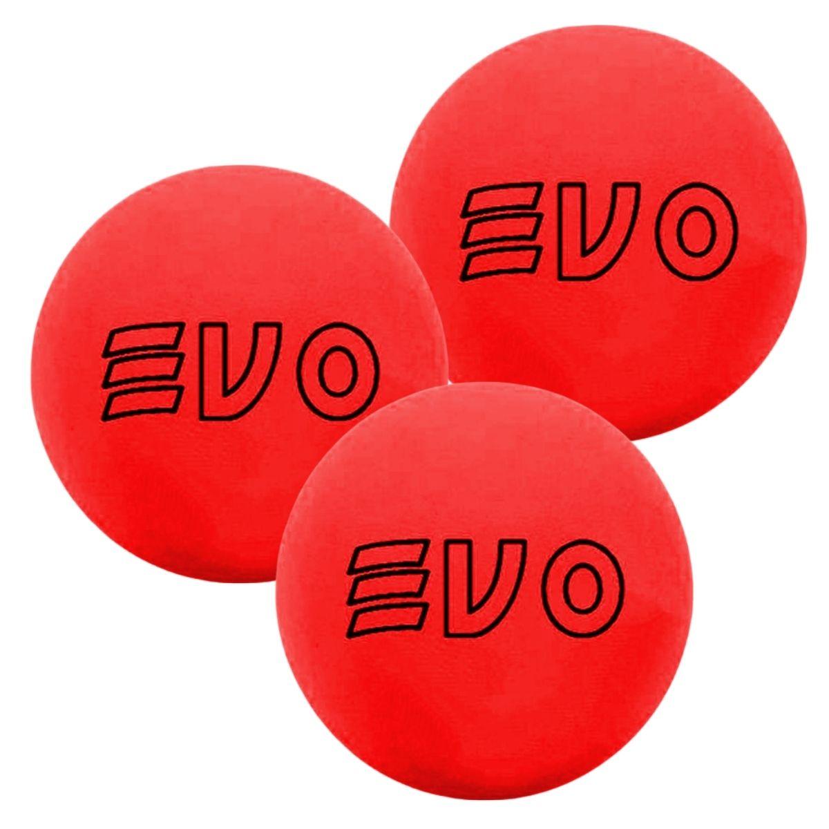 Bola De Frescobol Evo Vermelho Kit 3 Unidades
