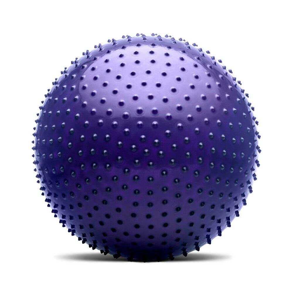 Bola De Massagem Roxa Fitness 65 Cm Com Bomba Hidrolight