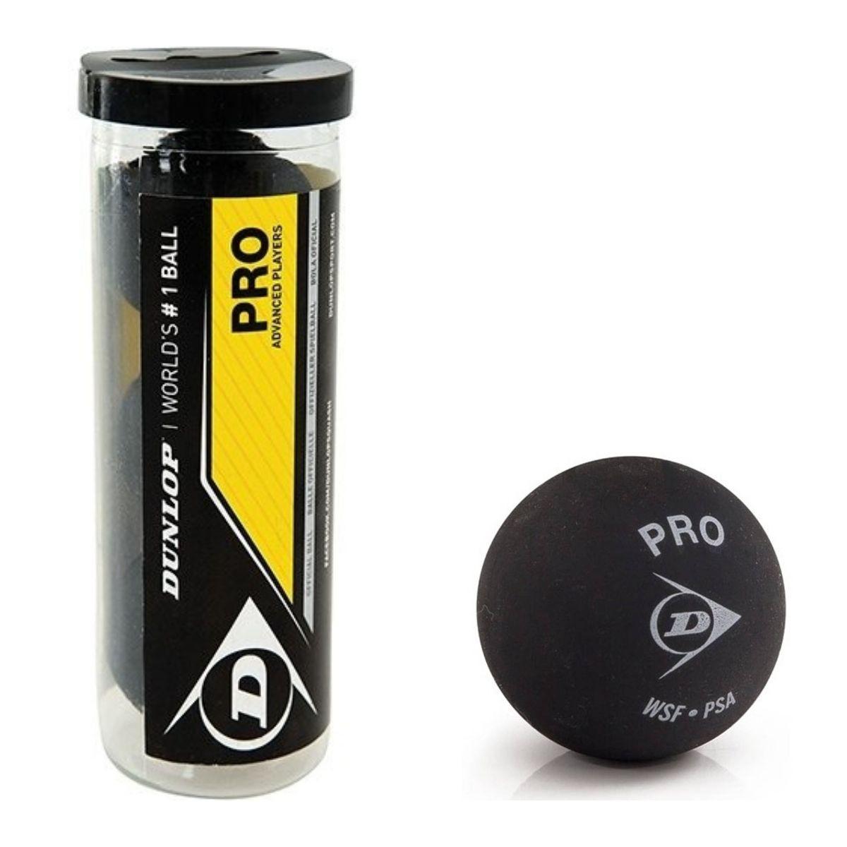 Bola De Squash Dunlop Revelation Pro Xx Tubo 3 bolas