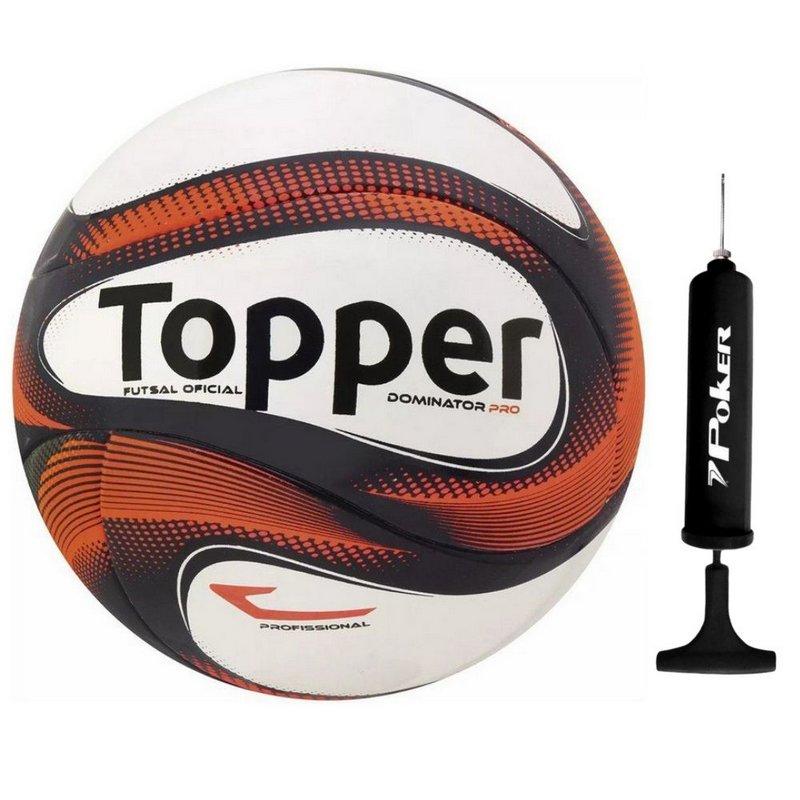 Bola Futsal Topper Dominator Profissional com bomba