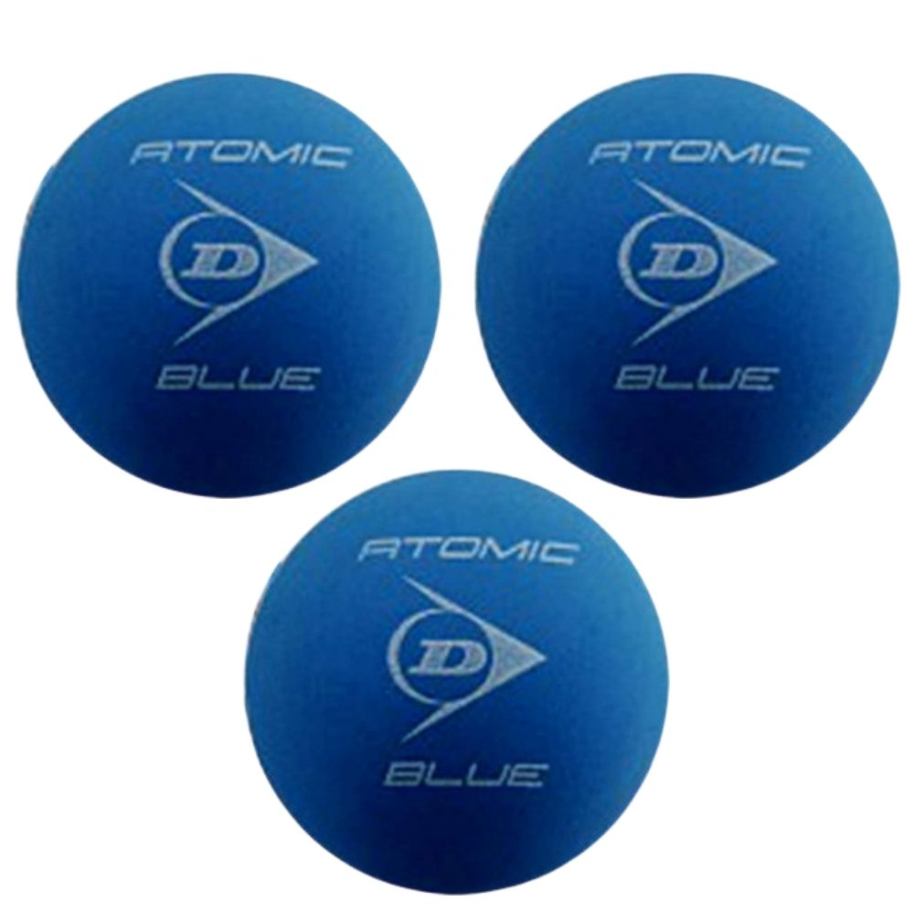 Bolas De Frescobol Dunlop Atomic Blue Kit 3 Unidades