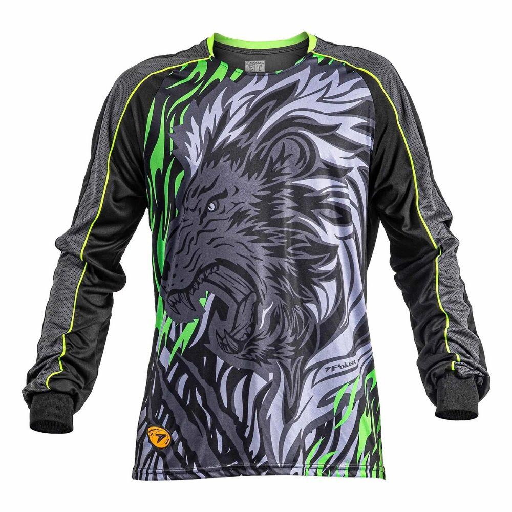 Camisa Goleiro Poker Sublimax Lion Manga Longo