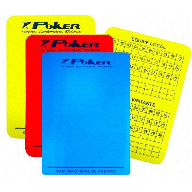 Cartão Poker Oficial para Arbitro Futsal