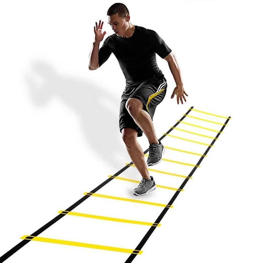 Escada poker Agilidade Pró Treinamento Funcional 9 degraus 4,5 mts