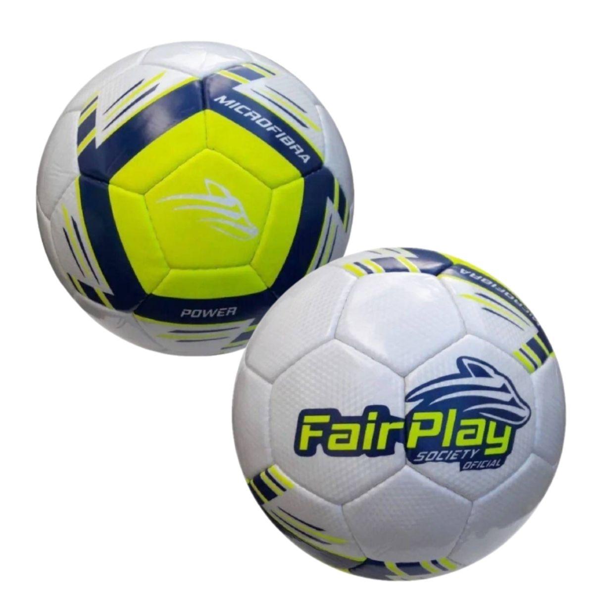 Kit 2 Bolas Futebol Society Fairplay Power