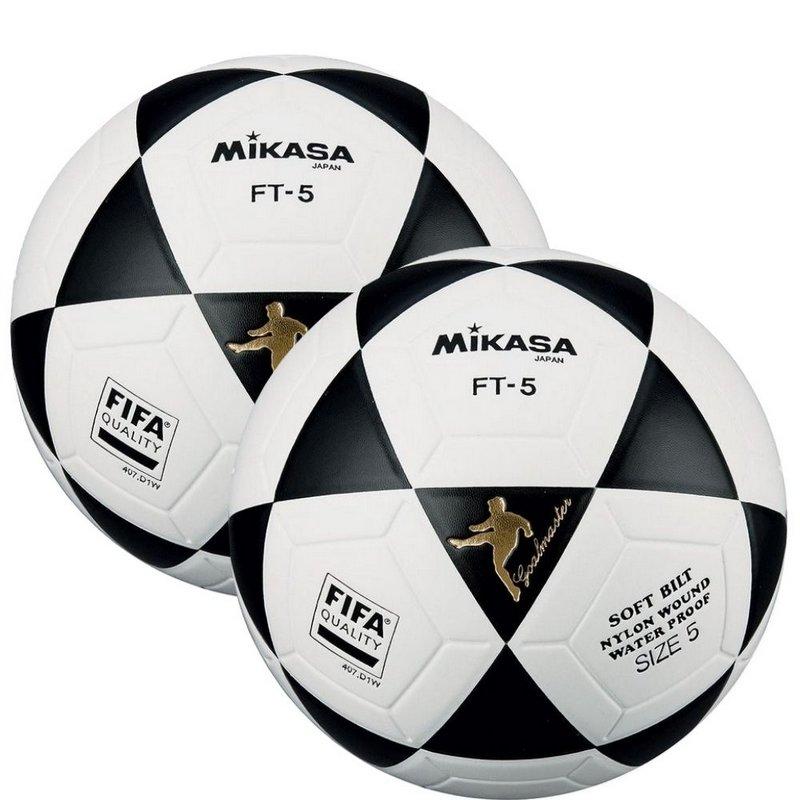 Kit 2 Bolas Futevôlei Mikasa Fifa Ft5 Branco Preto