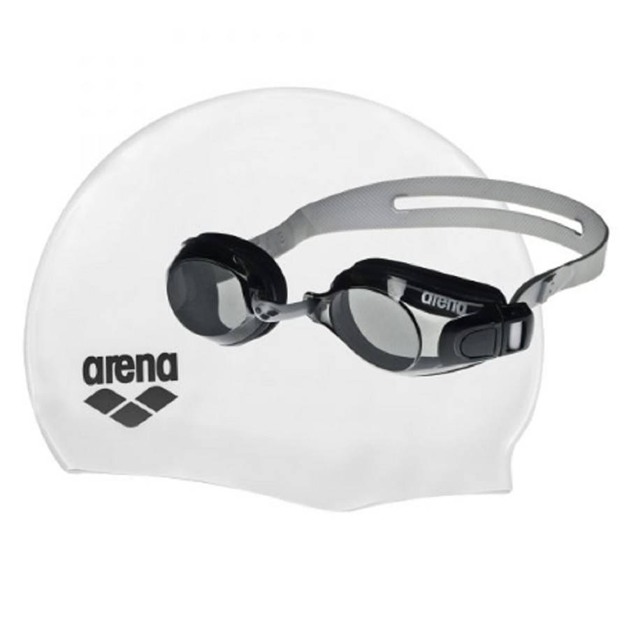 Kit Natação Óculos Touca Arena Pool Set Adulto