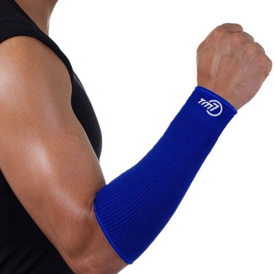 Manguito Para Vôlei Brac7 Curto Tm7 Sports Azul