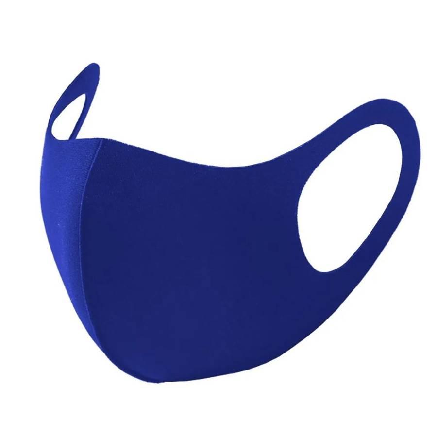 Máscara de Proteção Poker Multiesportiva Azul Com Elastano