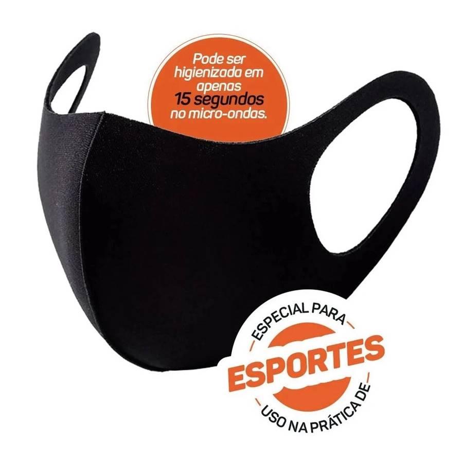 Máscara Proteção Poker Multiesportiva Black Com Elastano