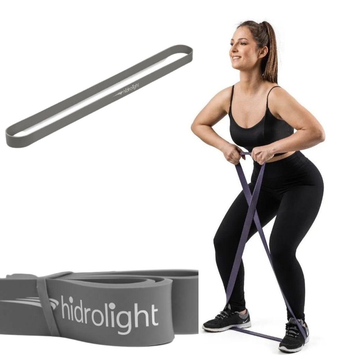 Power Band Hidrolight Faixa Elástica Circular p/ Exercícios Cinza Forte