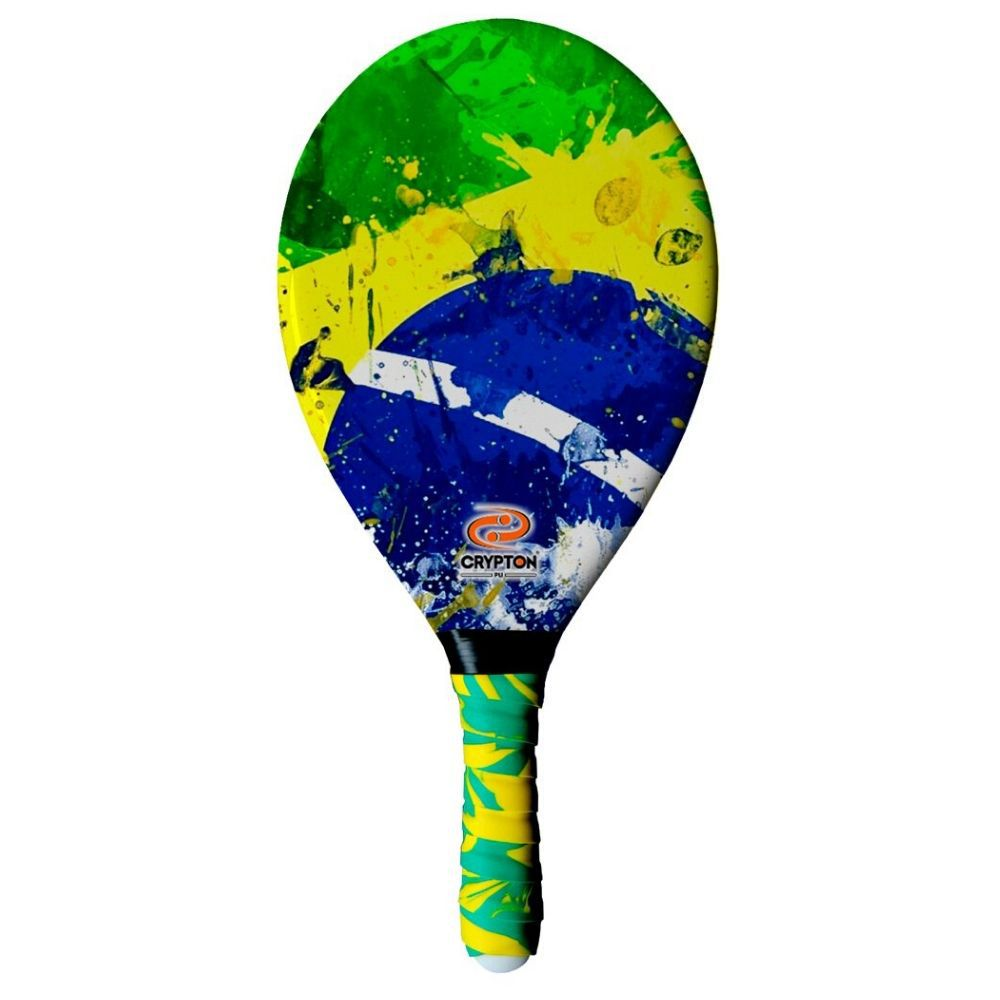 Raquete De Frescobol Crypton Fibra De Vidro Brasil