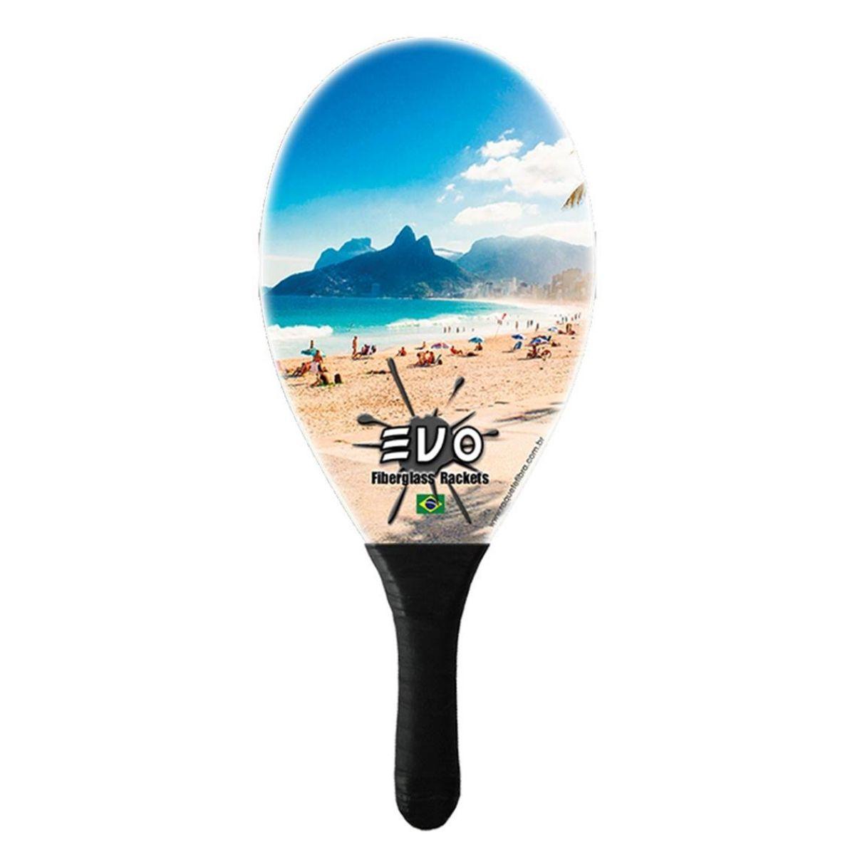 Raquete De Frescobol Evo Fibra de Vidro Rio
