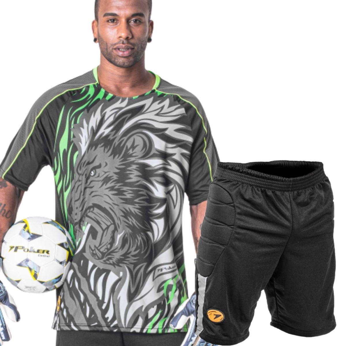 Uniforme Goleiro Calção Camisa Poker Simi Lion