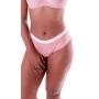 Calcinha Andressa - normal alta de algodão com elástico na cintura cós alto