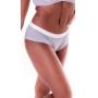 Calcinha Gio - normal alta de algodão com elástico na cintura cós alto