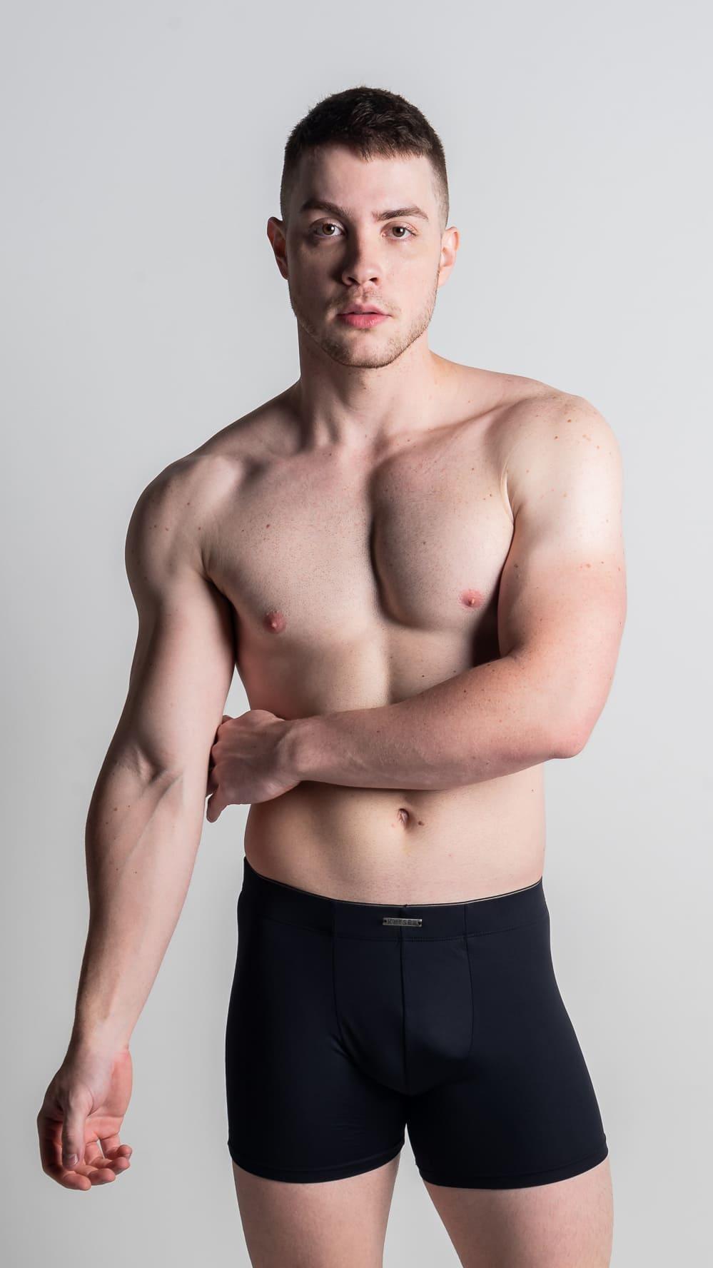 Boxer algodão mais alta e comprida - Cores lisas -  Gabriel