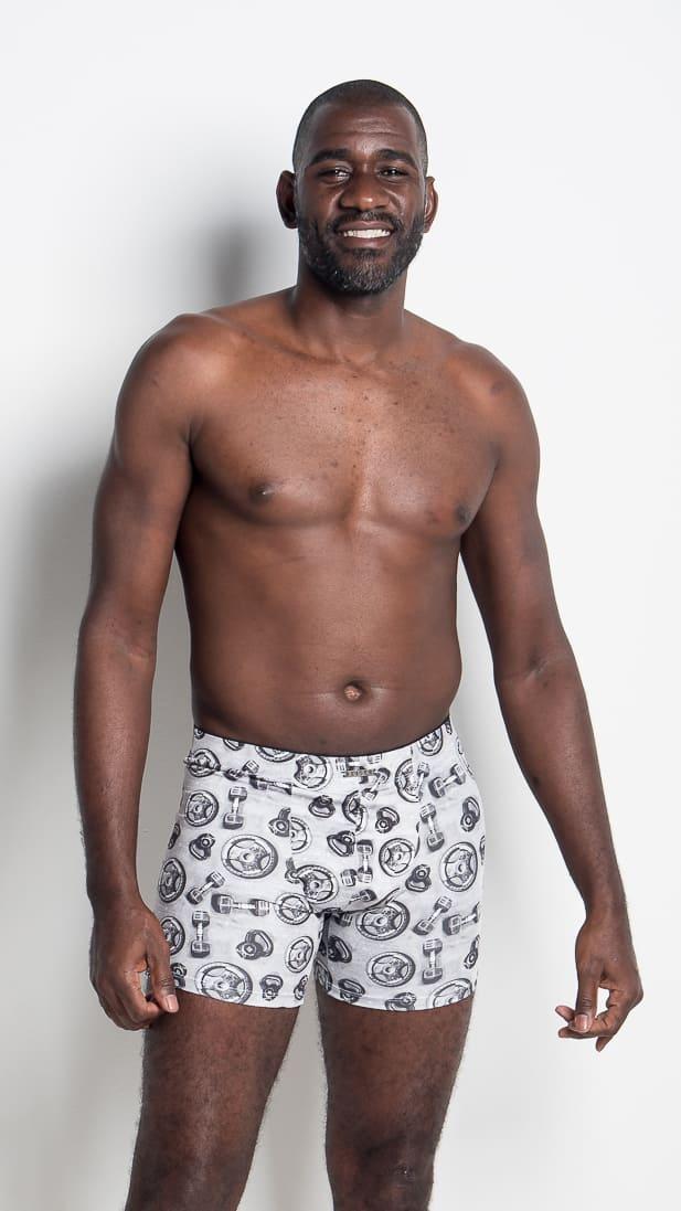Boxer algodão mais alta e comprida - Estampadas - Neto