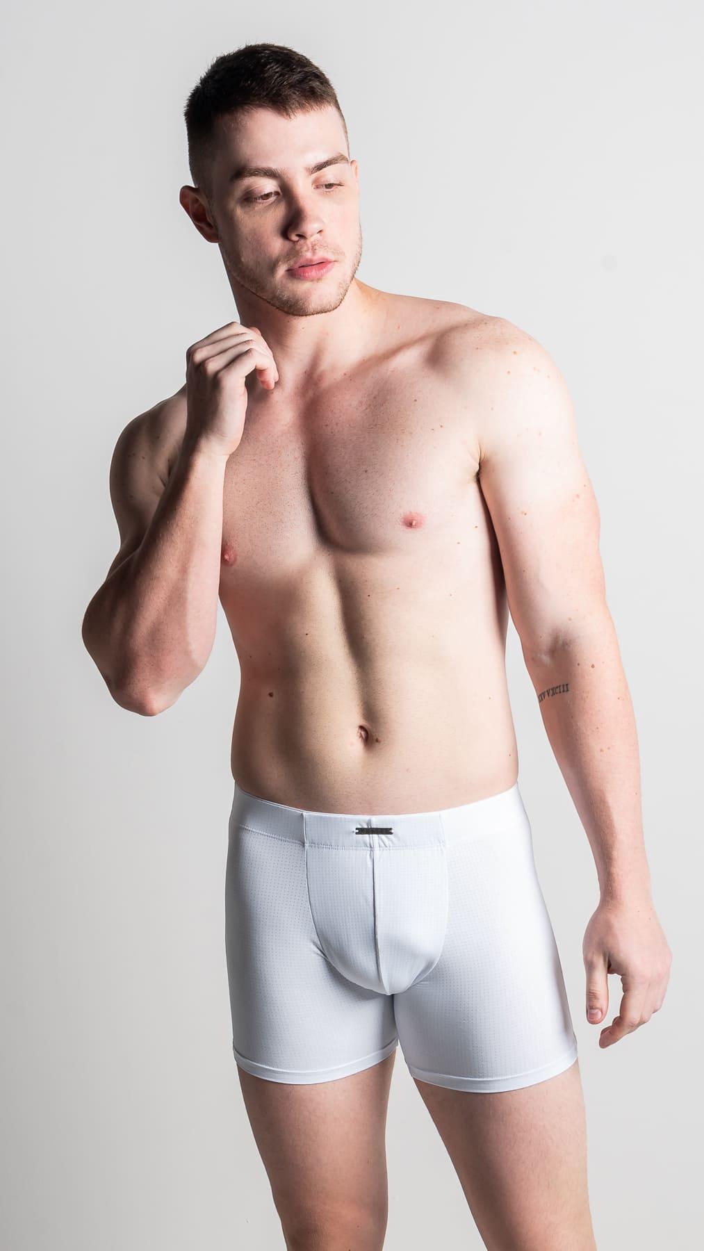 Boxer dry fit mais alta e comprida - Cores lisas - Matheus