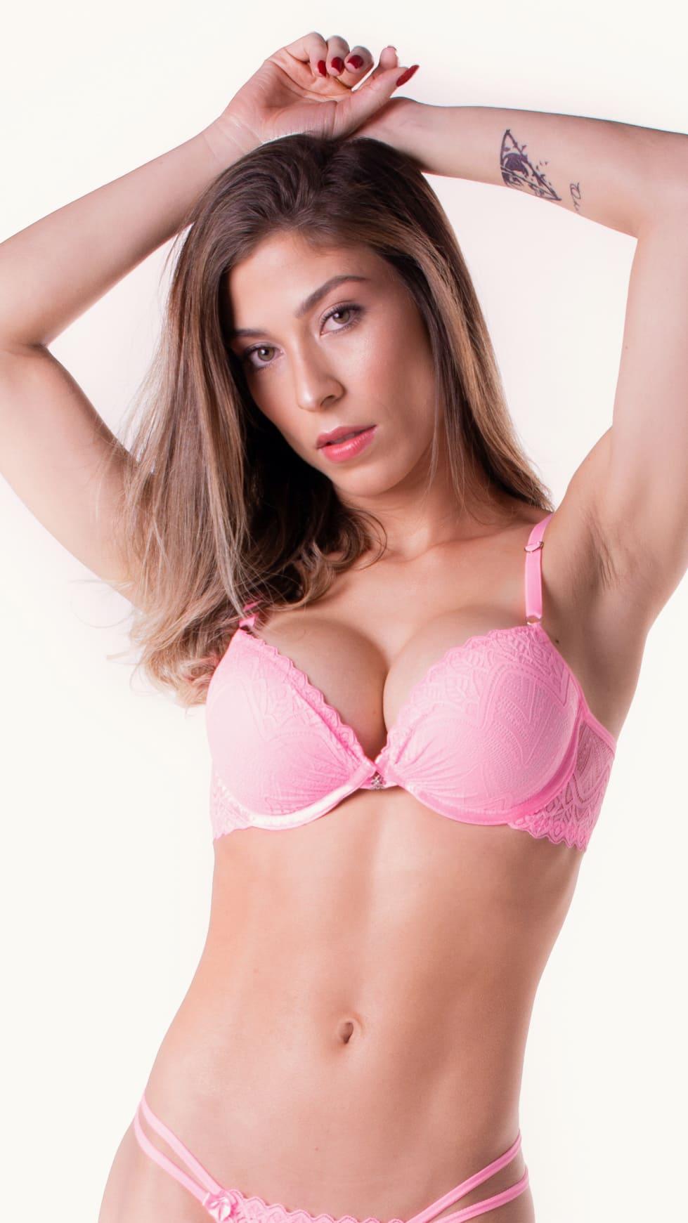 Sutiã Barbara - renda modelo push up sob medida