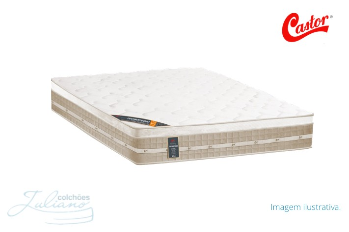 Colchão Castor Selado Premium Tecnopedic Europillow Top Plush - Casal / Queen