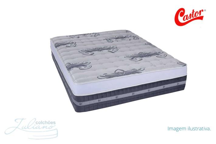 Colchão Castor Selado Silver Star Air Pocket Europillow Top Plush - Casal / Queen